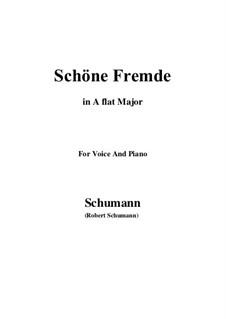 Nr.6 Schöne Fremde: A flat Major by Robert Schumann
