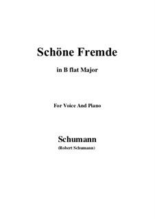 Nr.6 Schöne Fremde: B flat Major by Robert Schumann