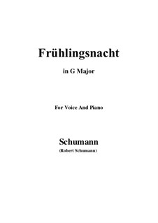 Nr.12 Frühlingsnacht: G Major by Robert Schumann