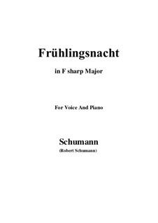 Nr.12 Frühlingsnacht: F sharp Major by Robert Schumann