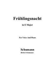 Nr.12 Frühlingsnacht: E Major by Robert Schumann