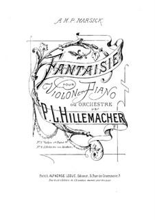 Fantasie für Violine und Klavier: Partitur by Paul Joseph Guillaume Hillemacher