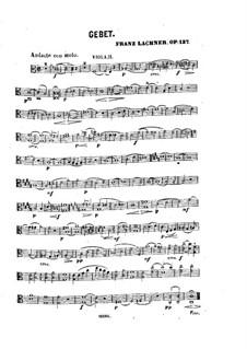 Gebet für Stimme, Streicher und Orgel, Op.137: Violastimme II by Franz Paul Lachner