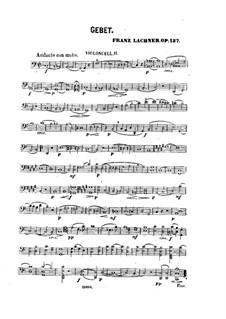Gebet für Stimme, Streicher und Orgel, Op.137: Cellostimme II by Franz Paul Lachner