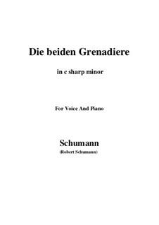 Romanzen und Balladen, Op.49: No.1 Two Grenadiers (c sharp minor) by Robert Schumann