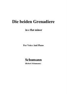Romanzen und Balladen, Op.49: No.1 Two Grenadiers (e flat minor) by Robert Schumann