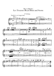 Les Troyens, H.133 Op.29: Act IV 'Royal Hunt and Storm' – flutes parts by Hector Berlioz