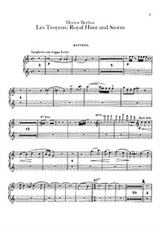 Les Troyens, H.133 Op.29: Act IV 'Royal Hunt and Storm' – oboes parts by Hector Berlioz