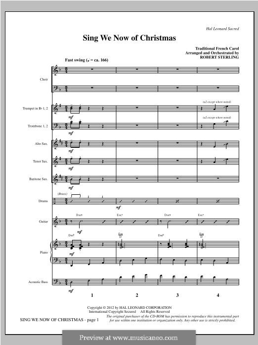 Sing We Now of Christmas (from Morning Star): Full Score (arr. Robert Sterling) by folklore