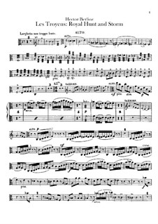 Les Troyens, H.133 Op.29: Act IV 'Royal Hunt and Storm' – viola part by Hector Berlioz