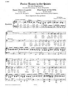 Freier Kanon in der Quint, H.14: Für zwei Stimmen und Klavier by Hector Berlioz