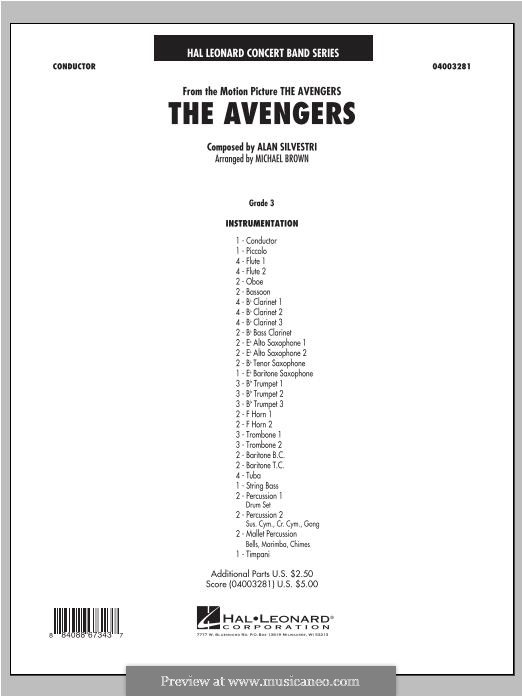 The Avengers: Vollpartitur by Alan Silvestri
