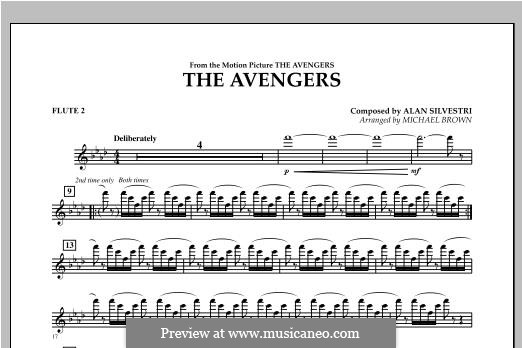 The Avengers: Flute 2 part by Alan Silvestri