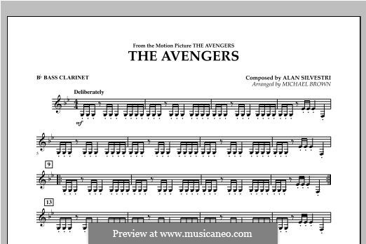 The Avengers: Bb Bass Clarinet part by Alan Silvestri