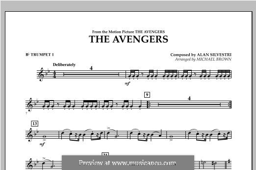 The Avengers: Bb Trumpet 1 part by Alan Silvestri