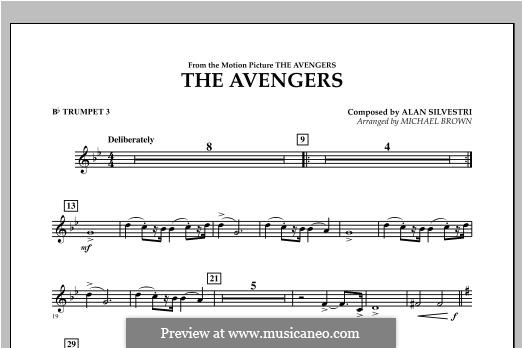 The Avengers: Bb Trumpet 3 part by Alan Silvestri