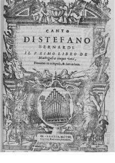 Madrigale für fünf Stimmen: Heft I – Stimmen by Steffano Bernardi