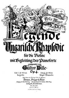 Ungarische Rhapsodie für Violine und Klavier, Op.4 No.2: Partitur by Gustav Hille