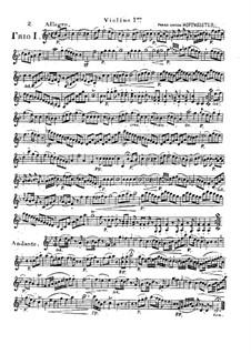 Sechs progressive Trios für zwei Violinen und Cello, Op.28: Nr.4-6 by Franz Anton Hoffmeister