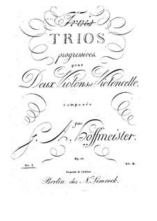 Sechs progressive Trios für zwei Violinen und Cello, Op.28: Violinstimme I by Franz Anton Hoffmeister