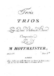 Drei Streichtrios, Op.37: Violinstimme I by Franz Anton Hoffmeister