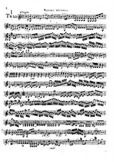 Drei Streichtrios, Op.37: Violinstimme II by Franz Anton Hoffmeister
