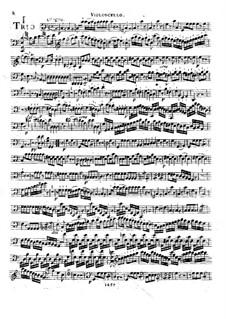 Drei Streichtrios, Op.37: Cellostimme by Franz Anton Hoffmeister