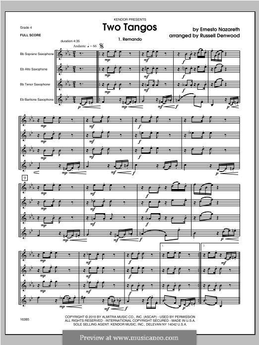 Two Tangos: Vollpartitur by Ernesto Nazareth