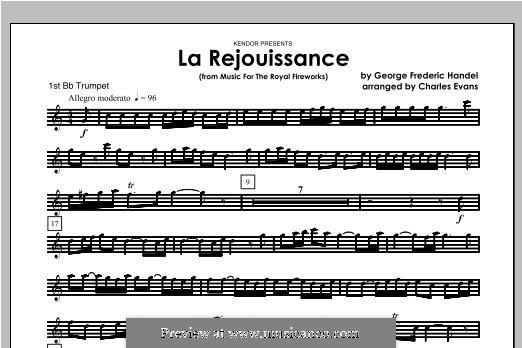 La Rejouissance: For brass band – Trumpet 1 part by Georg Friedrich Händel