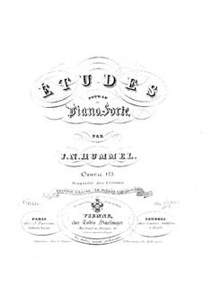 Ausgewählte Etüden für Klavier, Op.125: Ausgewählte Etüden für Klavier by Johann Nepomuk Hummel
