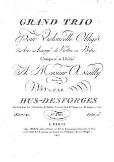 Streichtrio in Es-Dur, Op.15: Cellostimme by Pierre Louis Hus-Desforges