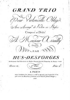 Streichtrio in Es-Dur, Op.15: Basso Continuo Stimme by Pierre Louis Hus-Desforges
