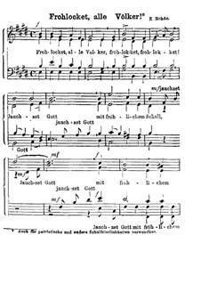 Frohlocket, alle Völker: Singpartitur by Eduard Rohde