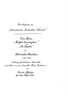 Zwei Chöre: Nr.1 Schäfer's Sonntagslied, für zwei Gitarren by Konradin Kreutzer