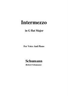 Nr.2 Intermezzo: G flat Major by Robert Schumann