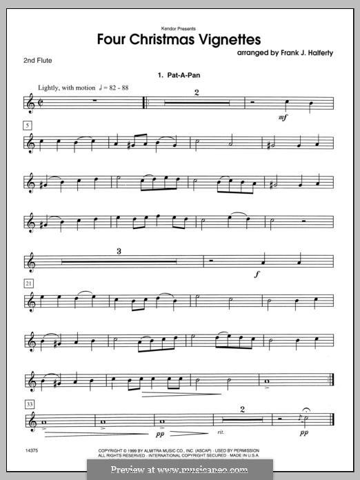 Four Christmas Vignettes: Flute 2 part by folklore