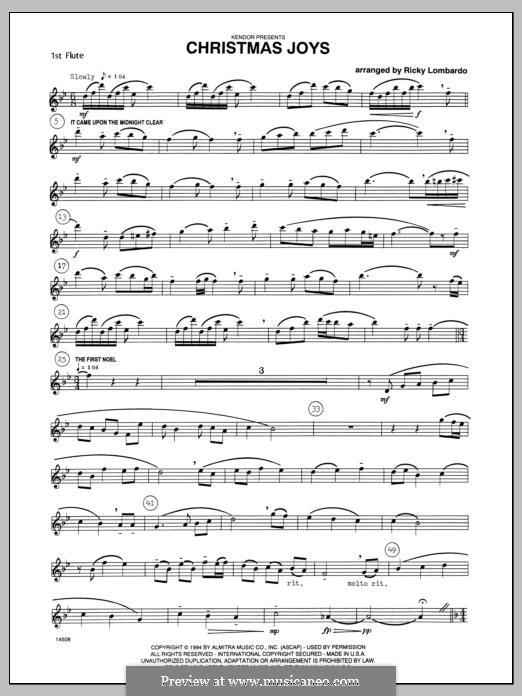 Christmas Joys, for flutes: Flute 1 part by folklore