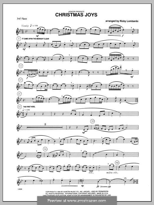 Christmas Joys, for flutes: Flute 3 part by folklore