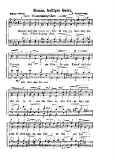 Komm, heil'ger Geist: Singpartitur by Dmitri Bortnjanski