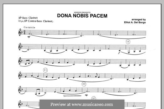 Dona Nobis Pacem: Bass Clarinet part by folklore