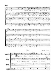 Improperium expectavit cor meum: Singpartitur by Orlando di Lasso