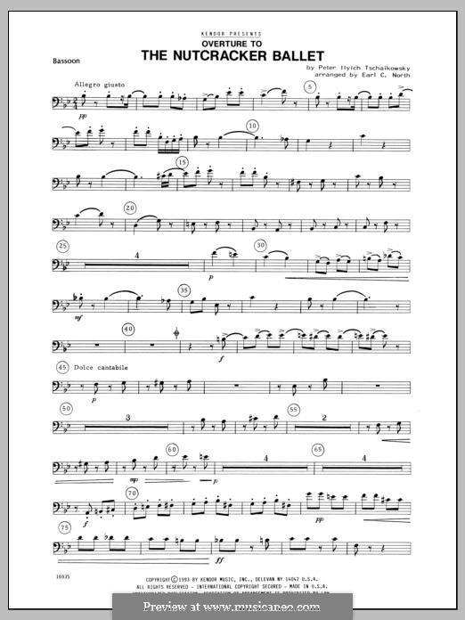Fragmente: Overture, for winds – Bassoon part by Pjotr Tschaikowski