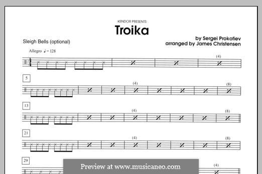 Leutnant Kishe, Op.60: Troika, for winds – Sleigh Bells part by Sergei Prokofjew