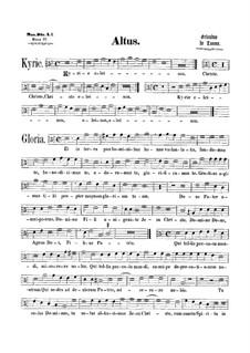 Messe 'Octavi Toni': Altstimme by Orlando di Lasso