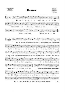 Messe 'Octavi Toni': Bassstimme by Orlando di Lasso