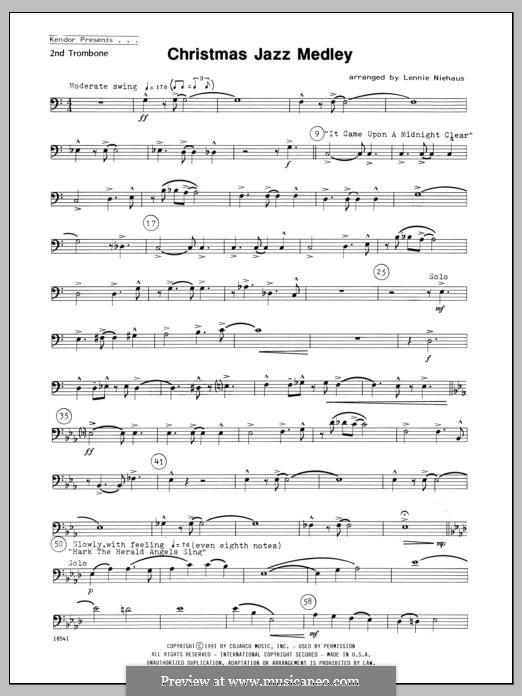Christmas Jazz Medley: For winds – 2nd Trombone part by folklore