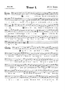 Messe 'Qual donna attende a gloriosa fama': Tenorstimme I by Orlando di Lasso