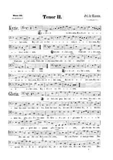 Messe 'Qual donna attende a gloriosa fama': Tenorstimme II by Orlando di Lasso