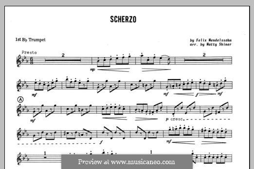 Scherzo: 1st Bb Trumpet part by Felix Mendelssohn-Bartholdy