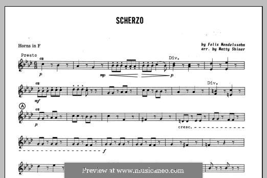 Scherzo: Horn in F part by Felix Mendelssohn-Bartholdy
